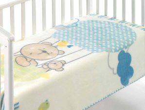 Κουβέρτα Βελουτέ Αγκαλιάς Morven Kidz C75 Σιέλ