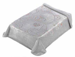 Κουβέρτα Βελουτέ Κούνιας Morven 3D Art Baby I04 Γκρι