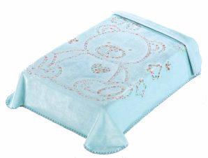 Κουβέρτα Βελουτέ Κούνιας Morven 3D Art Baby I04 Σιέλ