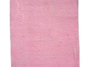 Κουβέρτα Βελουτέ Κούνιας Morven Baloon 1870 Pink