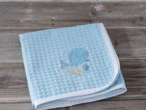 Κουβέρτα Πικέ Αγκαλιάς Nima Baby Baleen