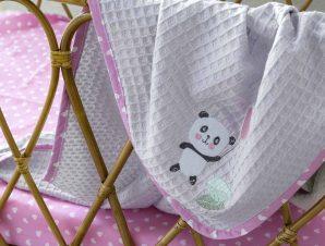 Κουβέρτα Πικέ Αγκαλιάς Nima Baby Lola Panda