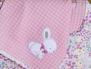 Κουβέρτα Πικέ Αγκαλιάς Nima Baby Some Bunny