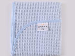Κουβέρτα Πικέ Κούνιας Rythmos Sweety Blue
