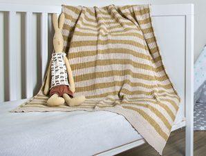 Κουβέρτα Πλεκτή Κούνιας Loom To Room Olaf Beige/Ecru