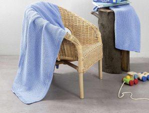 Κουβέρτα Πλεκτή Κούνιας Nima Cuddle Blue