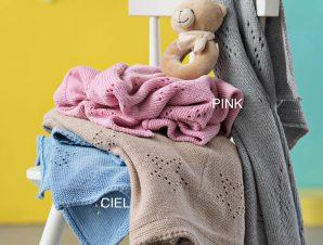 Κουβέρτα Πλεκτή Κούνιας Palamaiki Knitted Astro