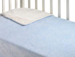 Κουβέρτα Fleece Αγκαλιάς Με Γουνάκι Morven Capricho B27/05 Σιέλ