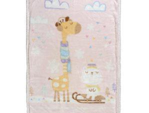 Κουβέρτα Fleece Κούνιας Με Γουνάκι Das Home Relax 6556