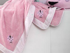 Κουβέρτα Fleece Κούνιας Nima Baby Lovebug