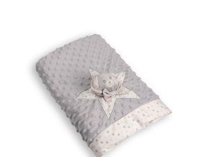 Κουβέρτα Fleece Κούνιας Silk Fashion FSJ161001J Grey