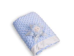 Κουβέρτα Fleece Κούνιας Silk Fashion WL502W Ciel