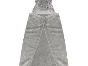 Κουβέρτα Fleece Με Κουκούλα Makis Tselios Baby Monocer Grey