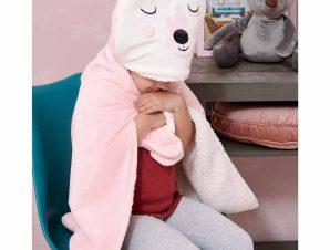 Κουβέρτα Fleece Με Κουκούλα Palamaiki NB0126 Pink