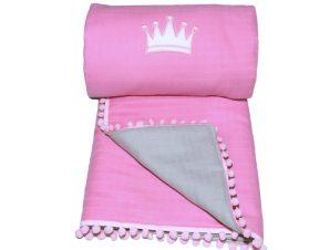 Κουβερλί Μουσελίνα Λίκνου Morven Lolly 1904 Pink