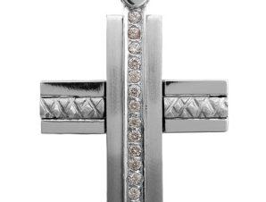 Σταυρός 14Κ από Λευκόχρυσο SVK2252
