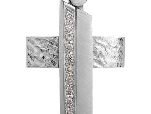 Σταυρός 14Κ από Λευκόχρυσο SVK2254