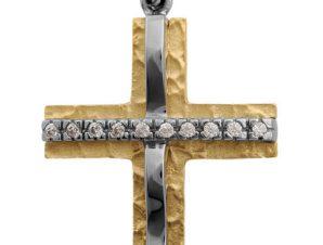 Σταυρός 14Κ από Χρυσό & Λευκόχρυσο SVK2260