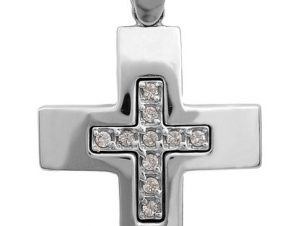 Σταυρός 14Κ από Λευκόχρυσο SVK2268