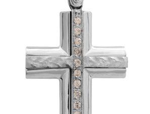 Σταυρός 14Κ από Λευκόχρυσο SVK2342