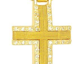 Σταυρός 14Κ από Χρυσό SVK560