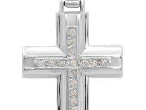 Σταυρός 14Κ από Λευκόχρυσο SVK680