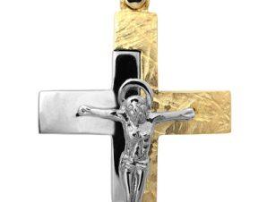 Σταυρός 14Κ από Χρυσό και Λευκόχρυσο SVA2517