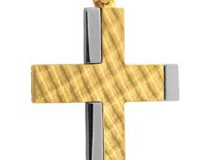 Σταυρός 14Κ από Χρυσό και Λευκόχρυσο SVA2558