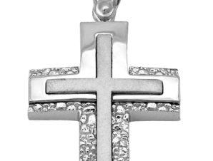 Σταυρός από Λευκόχρυσο 14Κ SIO11213