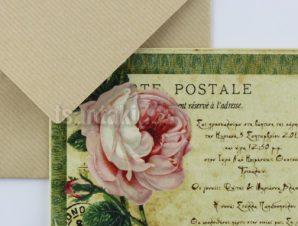 """1507 Προσκλητήριο Βάπτισης """"Card Postal"""""""