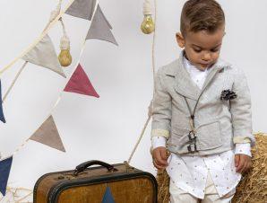 "Baby u Rock Βαπτιστικό Κουστουμάκι ""Pablo"" 220B01AC"