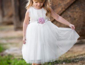Vinte Li Φόρεμα Βάπτισης Μπεζ-Ιβουάρ 2902