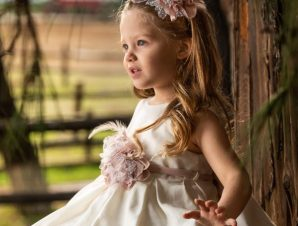 Vinte Li Φόρεμα Βάπτισης Εκρού 2904