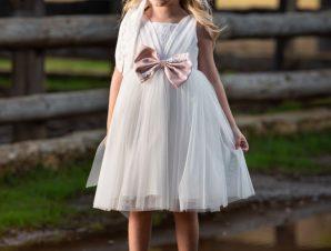 Vinte Li Φόρεμα Βάπτισης Ιβουάρ 2905