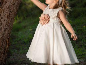 Vinte Li Φόρεμα Βάπτισης Ιβουάρ 2909