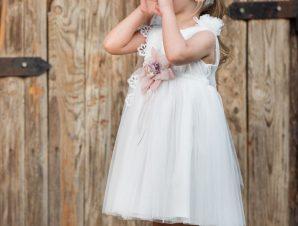 Vinte Li Φόρεμα Βάπτισης Ιβουάρ 2916
