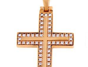 Σταυρός 14Κ από Χρυσό με Ζιργκόν SIO50311Α