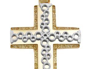 Σταυρός 14Κ από Χρυσό και Λευκόχρυσο SIO51111
