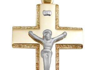 Σταυρός 14Κ από Λευκόχρυσο και Χρυσό SIO52211