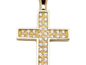 Σταυρός 14Κ από Χρυσό με Ζιργκόν SIO52212