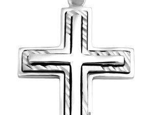 Σταυρός 14Κ από Λευκόχρυσο SIO52511