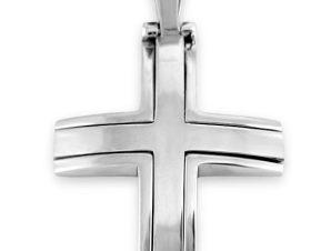 Σταυρός 14Κ από Λευκόχρυσο SIO53311