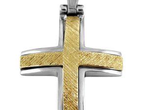Σταυρός 14Κ από Χρυσό και Λευκόχρυσο SIO53411