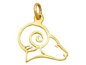 Μενταγιόν Χρυσό Κριός 14Κ 70812