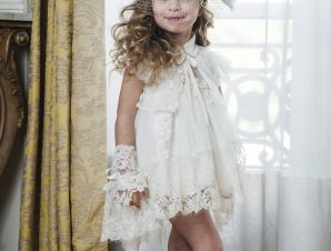 "Bambolino Βαπτιστικό Φόρεμα ""Elpida"" Εκρού 9105"