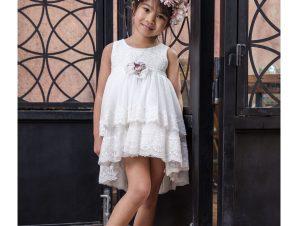 "Bambolino Βαπτιστικό Φόρεμα ""Alkistis"" Λευκό 9147"