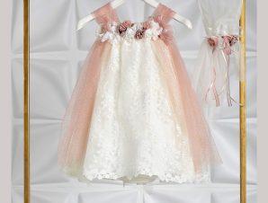 "Piccolino Βαπτιστικό Φόρεμα ""Tuliana"" Σομόν DR20S33SP"