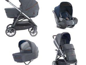 System Aptica Quattro Tailor Denim Full Kit with car seat Cab Inglesina