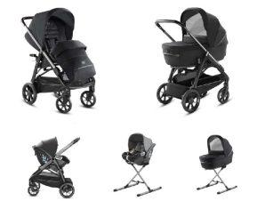 System Aptica Quattro Mystic Black Full Kit With Darwin i-size Car Seat Inglesina