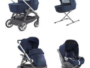 System Aptica Quattro Portland BLue Full Kit with car seat Cab Inglesina